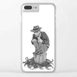 Inktober Day 21 Clear iPhone Case