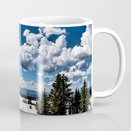 Cloudy Snowy Open Ladscape - Crater Lake National Park, Oregon Coffee Mug