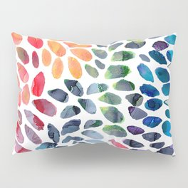 Colorful Painted Drops Pillow Sham