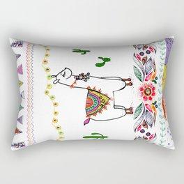 Llama Illustration Rectangular Pillow